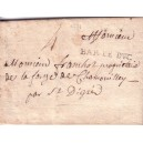 MEUSE - BAR LE DUC 14 AVRIL 1771 + TAXE 4 MANUSCRITE.