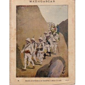 MADAGASCAR - CAHIER D'ECOLIER COMPLET PERIODE 1890-1900.