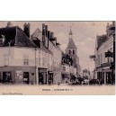 YONNE - BRIENON - LA GRANDE RUE - ANIMATION - CARTE DATEE DE 1906.