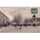 HERAULT - LUNEL - PLACE DE LA REPUBLIQUE - CARTE DATEE DE 1907..