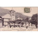 HAUTE SAVOIE - SALLANCHES - PLACE ST-JACQUES - CARTE DATEE DE 1907.