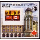 BLOC DE LA C.N.E.P N°? - SALON PHILATELIQUE D'AUTONE PARIS 2015 - CANADA..