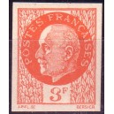 N°0521 - 3F ORANGE PETAIN - NON DENTELE - SANS TRACE DE CHARNIERE.