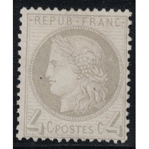 No052 - CERES 4c IIIe REPUBLIQUE - NEUS SANS GOMME - SIGNATURE JF.BRUN - (R)